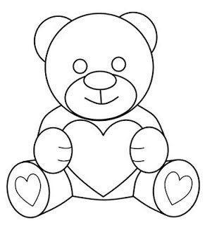 Как нарисовать медвежонка с сердечком 6