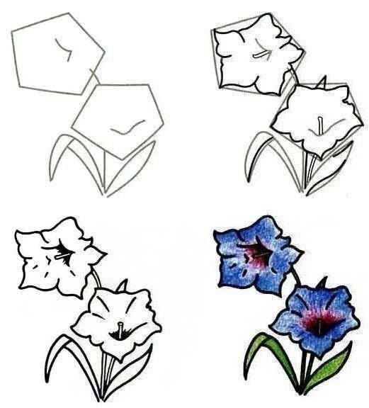 Рисуем разные цветочки