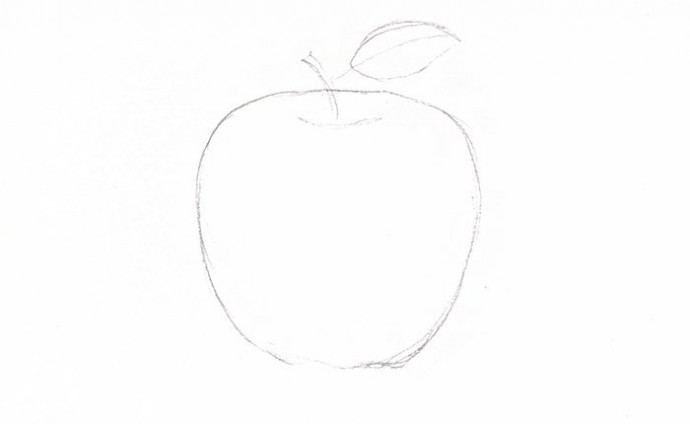 Рисуем с детьми наливное яблочко