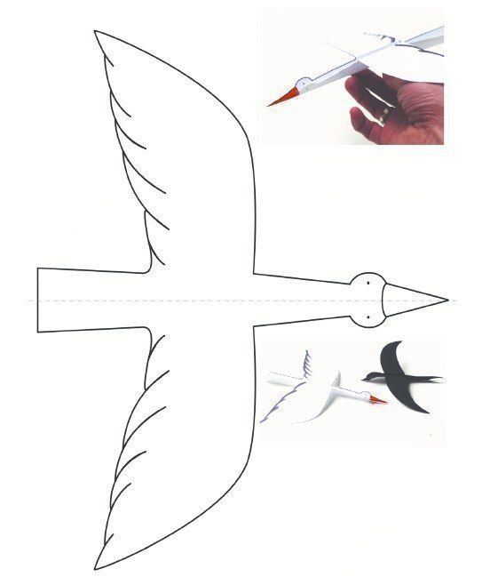 Шаблоны летающих птиц 1