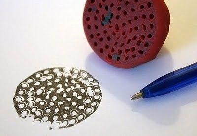 Штампики из пластилина детскими руками