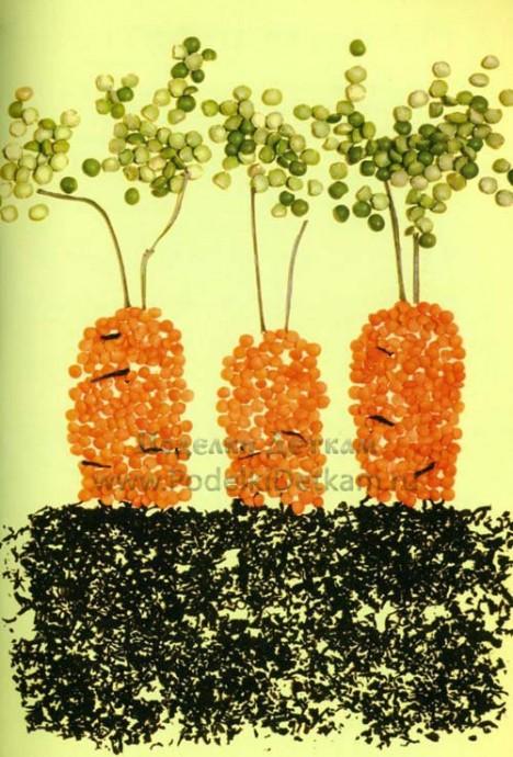 Идеи поделок из зерен и семян