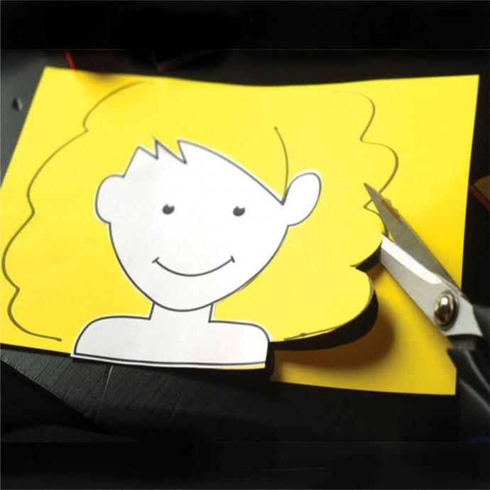Прически из бумаги при помощи ножниц