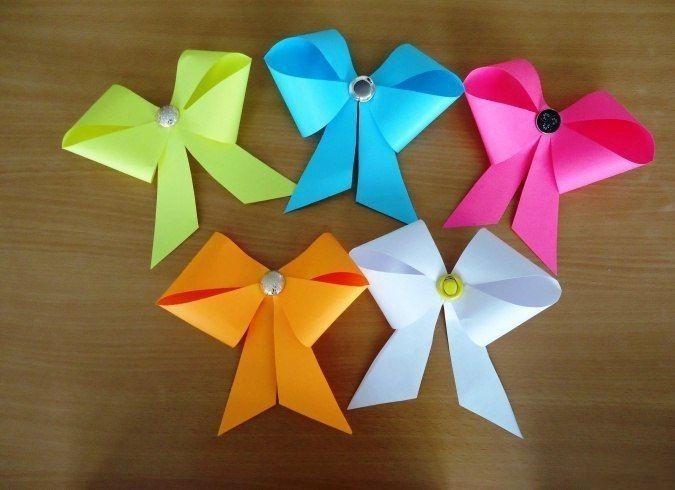 Бантики-оригами 5
