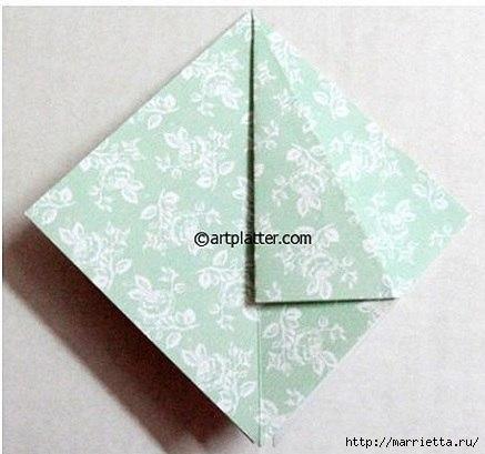 Елочка из бумаги в технике оригами