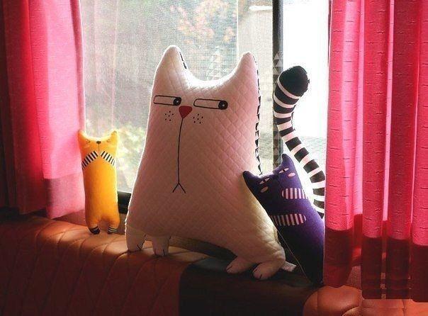 Шьём мягкую игрушку в виде кота