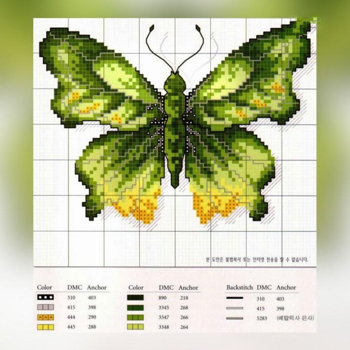 Вышиваем бабочек 1
