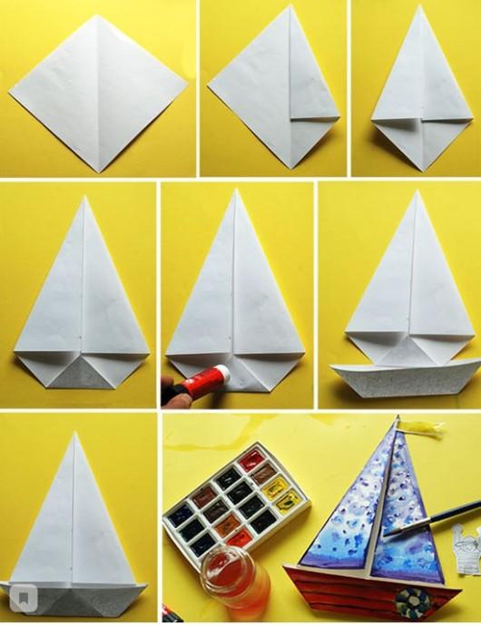 Кораблик в технике оригами
