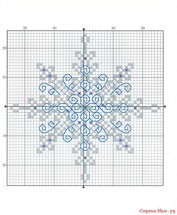 Схемы вышивок снежинок для детей