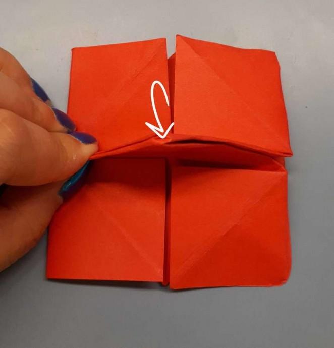Чудесный цветок оригами 15