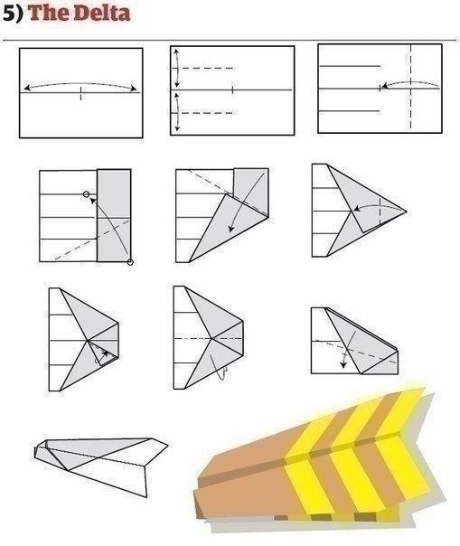 Как сложить самолетик