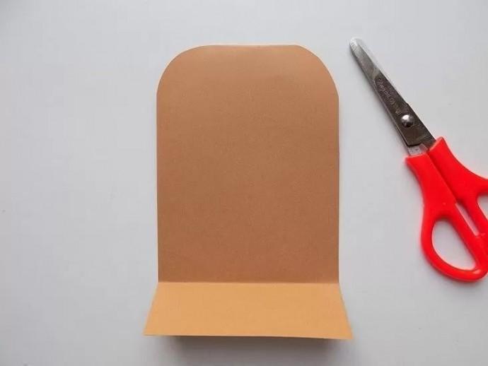Мишка из цветной бумаги