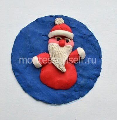 "Новогодняя пластинография ""Дедушка Мороз"""