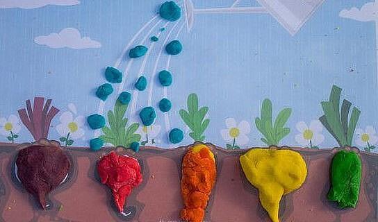 Овощи и фрукты в разных техниках