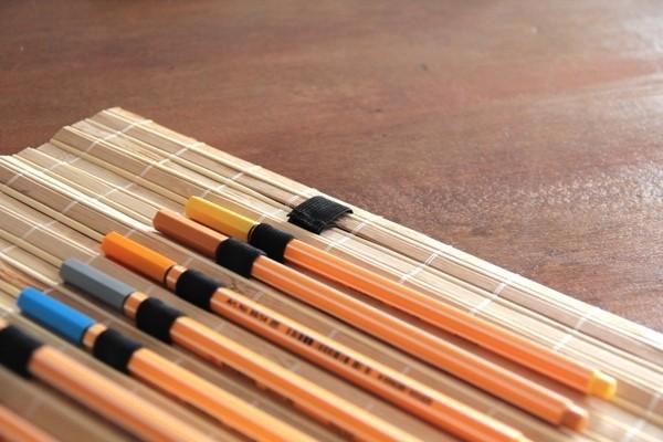 Пенал из бамбуковой салфетки
