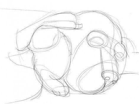 Рисуем влюбленных пса и кошечку