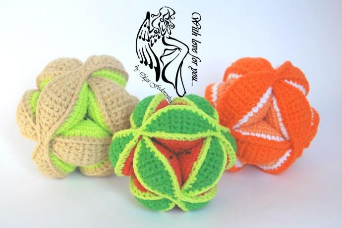 Мячик-пазл - мягкая игрушка головоломка