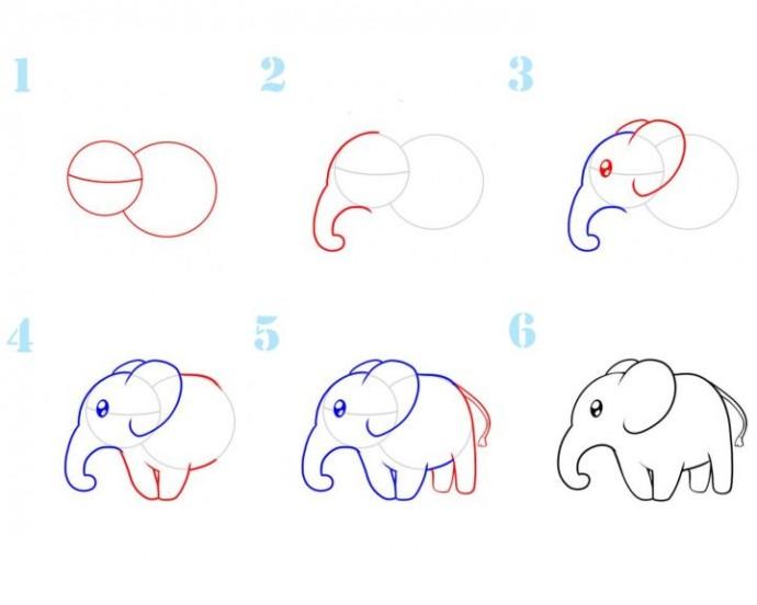 тесно смотреть картинки как нарисовать слона палочки
