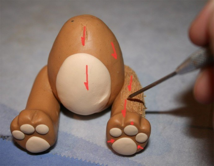 Мишка из пластилина
