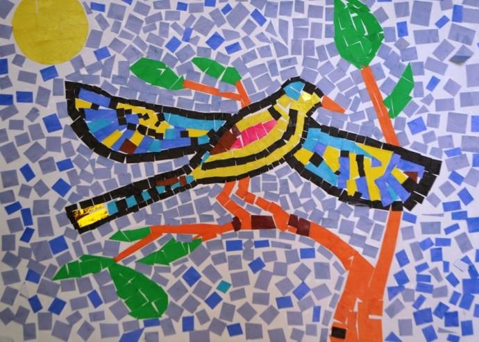 Мозаика из обрывков бумаги