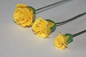 Как сделать розы из бумаги 8
