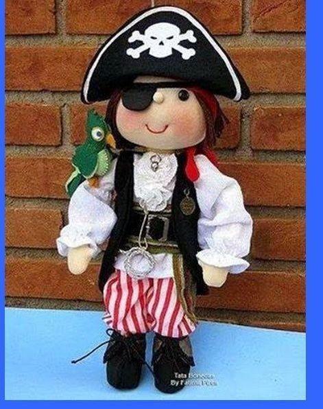 Текстильные куклы пираты