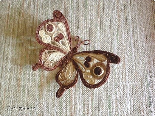 Бабочка в технике шпагатной филиграни