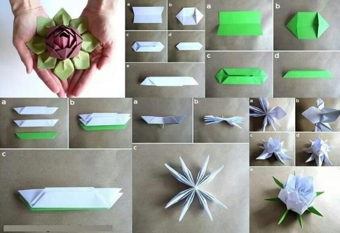 Очень красивый цветочек из бумаги