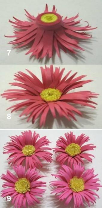 Хризантемы из бумаги в технике квиллинга