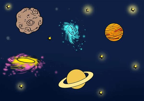Рисуем с детьми космос