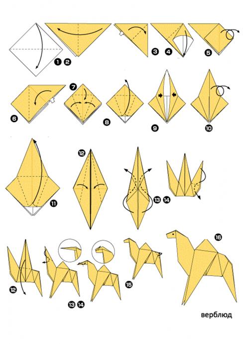 Зверушки-оригами