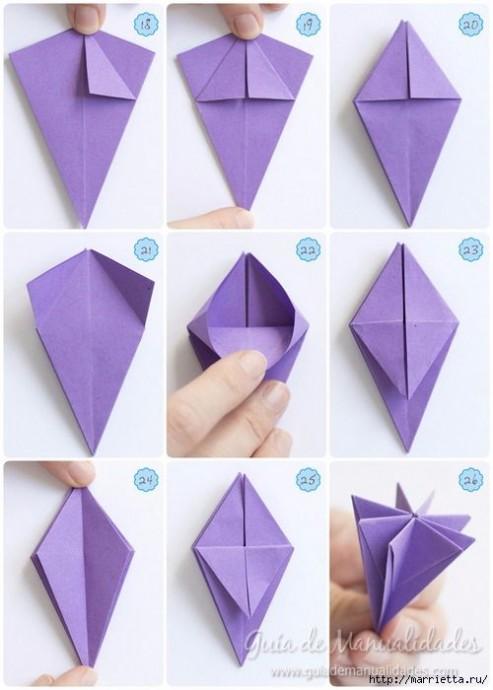 Чудесные цветочки в технике оригами