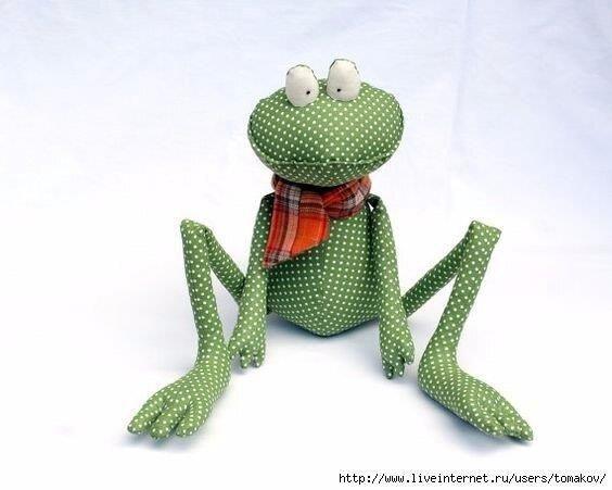 Лягушка забавная с выкройкой