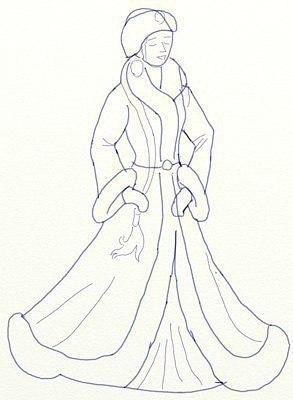 Рисуем Снегурочку 5