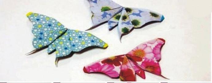 Бабочки из бумаги в технике оригами