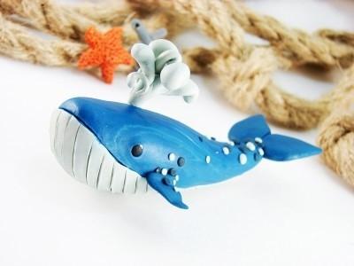 Лепим с детьми кита