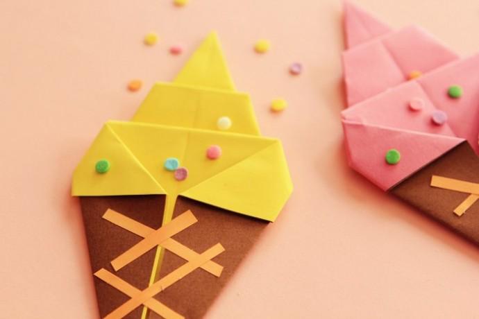 Мороженое из цветной бумаги
