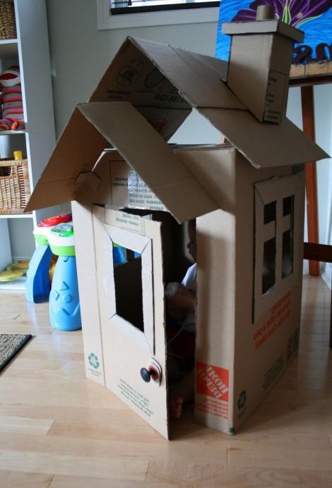 Поделки из больших картонных коробок