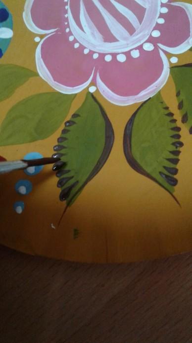 Учим детей городецкой росписи