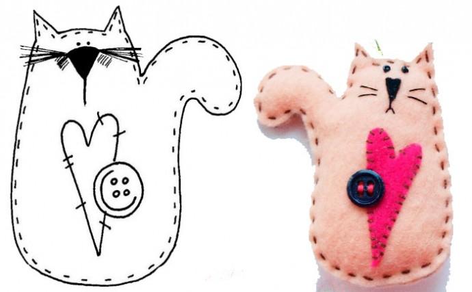 """Мягкая игрушка """"Котенок"""""""