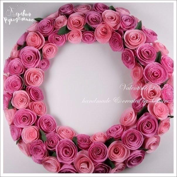 Спиральные розы из бумаги