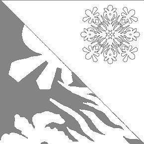 Вырезаем снежинки 4