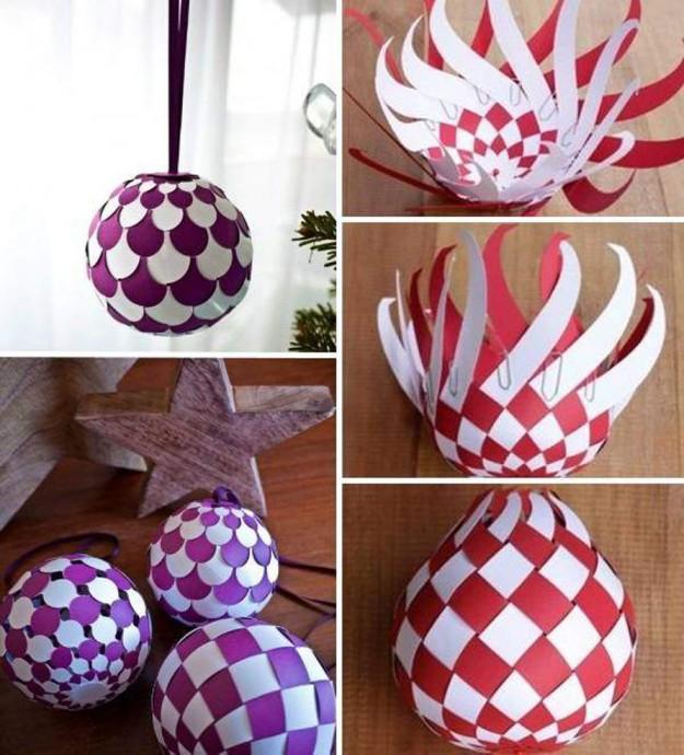 Ёлочные шары из бумаги 3