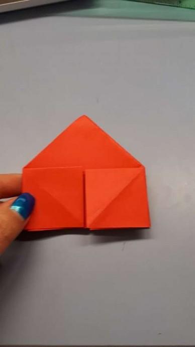 Чудесный цветок оригами 8