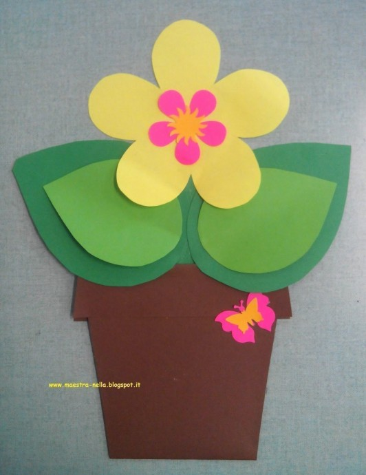 Цветок в горшке с добрыми пожеланиями