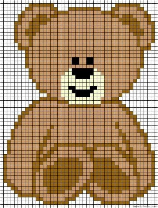 Вышиваем с детками очаровательных медвежат