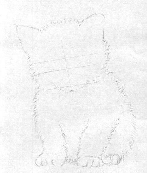 Учимся рисовать милого котенка