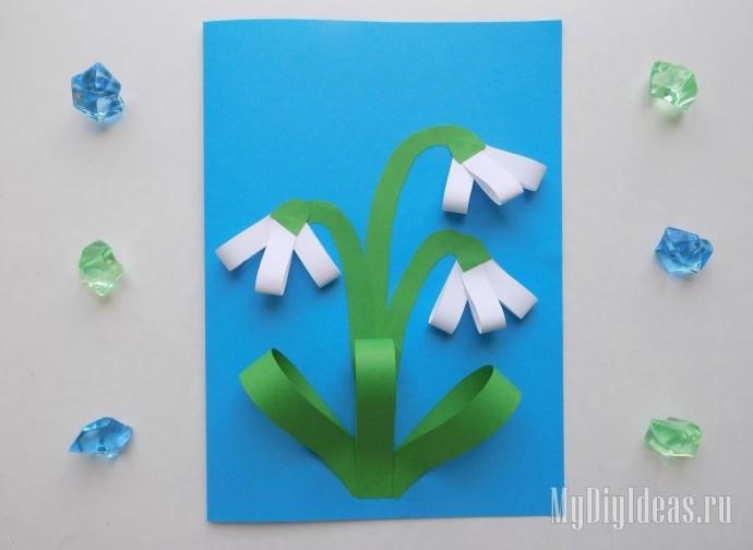 Цветочки из цветной бумаги