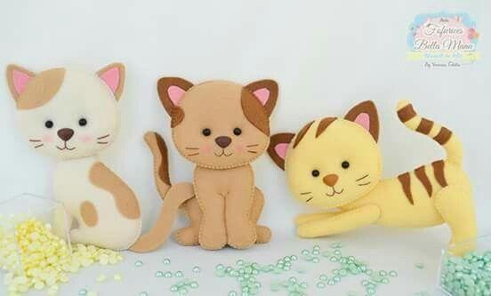 Котики из фетра