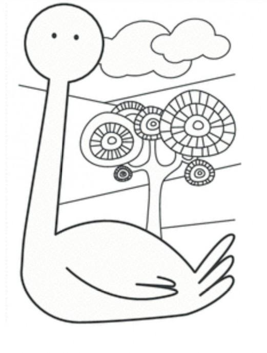 Объемная открытка с аистом